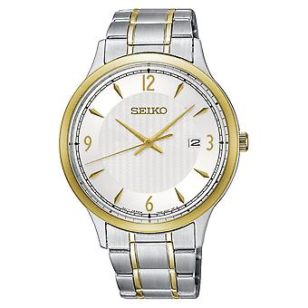 Seiko Analogue Quartz Stainless Steel with White Dial (Model No. SGEH82P1)