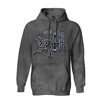 Death Hoodie Spiritual Healing Band Logo new Official Mens Vintage Wash Pullover