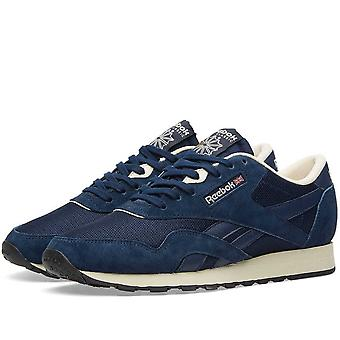 Reebok Men-apos;s Classic Nylon Suede Trainers Chaussures de course AR1232 - Marine
