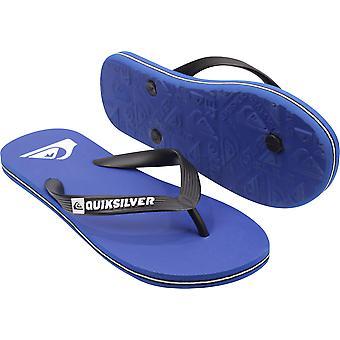 Quiksilver Hombres Molokai Casual Flip Flops - Azul/Negro