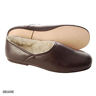 Edwardian Leather Slippers (Pair) - Deluxe
