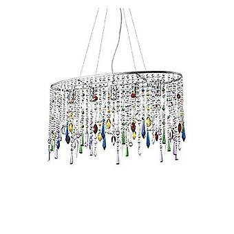 5 lumière grand plafond pendentif chrome