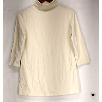 Women with Control Petite Top SP Long & Lean 3/4 Sleeve Tee Ivory A269623