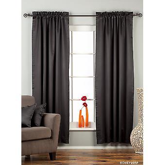 Blackout de bâton noir poche 90 % Rideau / Drape / Panel - Piece