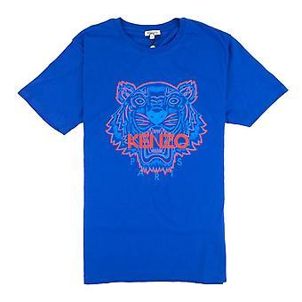 Kenzo T-shirt Tiger bicolore Blu