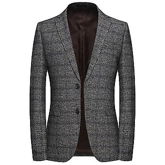 Allthemen Men's Single-Breasted Slim Fit Autumn&Spring Casual Suit Jacket
