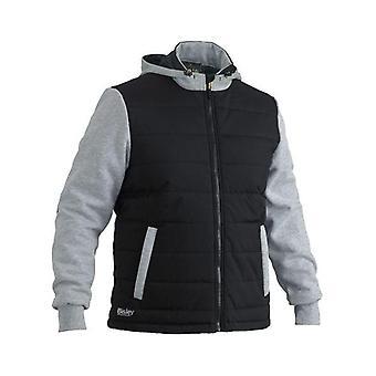 Bisley Flex & Move Contrast Puffer Fleece Hooded Jacket