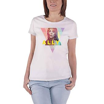 A Star Is Born T Shirt Ally Geo Triangle Logo Official Womens Skinny Fit White