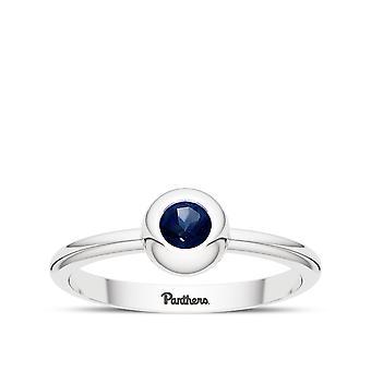University of Pittsburgh Sapphire ring i sterling sølv design af BIXLER