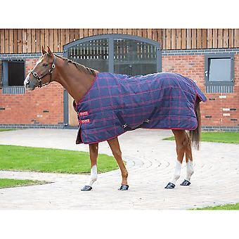 Shires Tempest Plus 200 Stable Rug - Controllo Navy/rosso