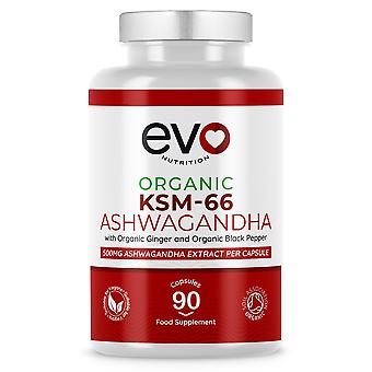 Organic Ashwagandha KSM-66 With Organic Ginger & Black Pepper - 500mg