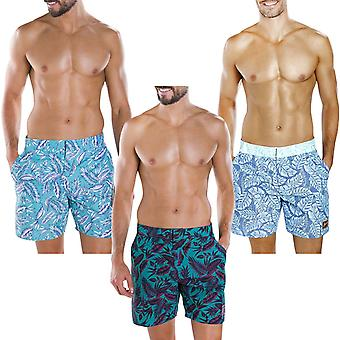 Speedo Mens Vintage Imprimé 16'quot; Leisure Pool Beach Swim Swim Trunks Shorts