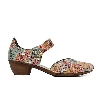 Rieker 43754-90 Multi Coloured Womens Heeled Summer Shoes