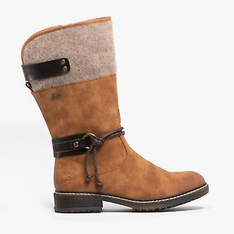 Rieker 94774-22 Ladies mid kalv Boots kastanje