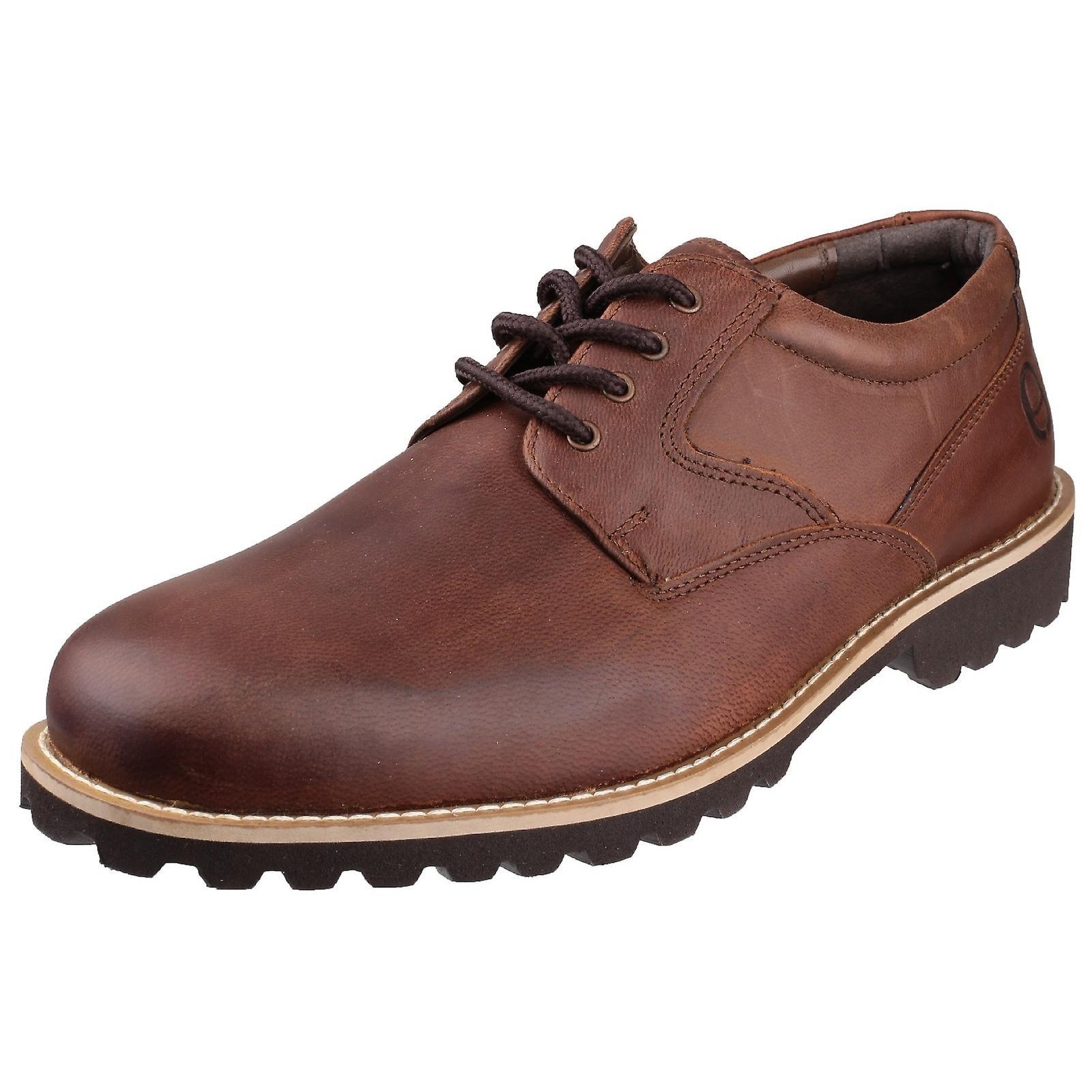 Cotswold Mens Tuffley Lace Up chaussures en cuir - Remise particulière