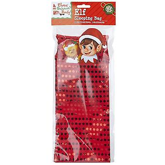 Christmas Shop Elf Sequin Sleeping Bag Accessory
