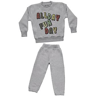 All Day Fun Day - Sweatshirt with Grey Joggers - Baby / Kids Outfit
