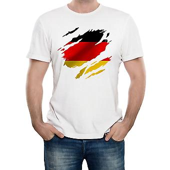 Reality glitch torn germany flag mens t-shirt