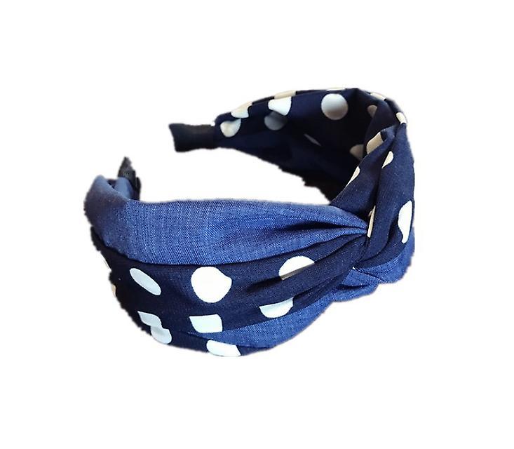 Polka dot cross knot headband