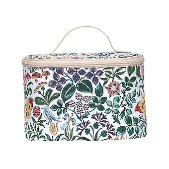 Voysey - spring flowers makeup bag by signare tapestry / toil-spfl