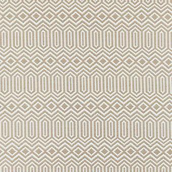 Mcalister textiles colorado tissu beige taupe géométrique