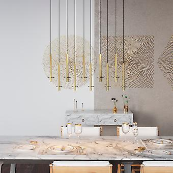 DRACO 10 Pendant Lighting Brass - LED Hanging Light Fixture