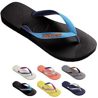 Womens Havaianas Top Mix Brasil Rubber Beach Brazil Flip Flops Sandals
