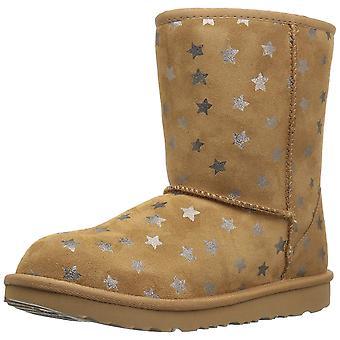 UGG Kids K Classic Short II Stars Pull-on Boot