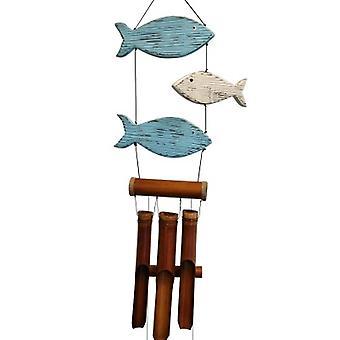 Blue et Blanc Fun Fish Harmony Wind Chime