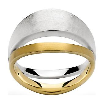bastian inverun - silver ring partially gold-plated - 21210 (16.6mm)