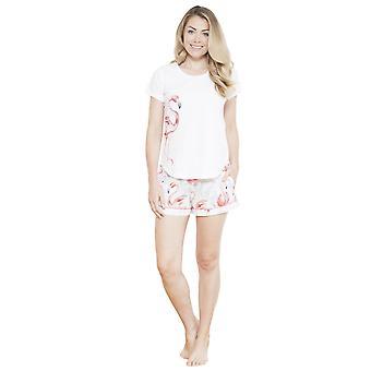 Cyberjammies 3656 Frauen Grace weiß Motiv Pyjama Pyjama kurz