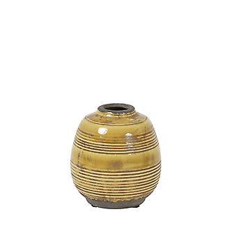 Light & Living Vase Deco 13x14cm Sinabung Ceramics Ocher