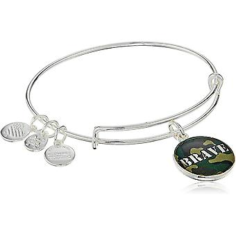 Alex And Ani Brave Charm Bangle Shiny Silver Finish Bracelet - AS16AF02SS