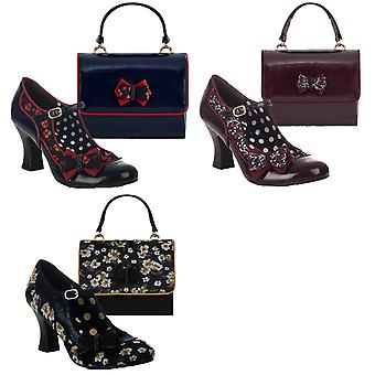 Ruby Shoo Women's Camilla Mid Heel Mary Jane Shoes & Matching Casablanca Bag
