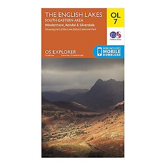 New Ordnance Survey Explorer OL7 The English Lakes South Eastern Area Orange
