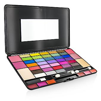Laptop style make up kit 8075 (35x eye shadow, 4x blusher, 2x powder cake, 6x lipgloss) 196371 -