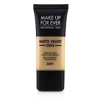 Matte fluwelen huid volledige dekking stichting # y305 (zacht beige) 238957 30ml/1oz