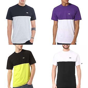 Vans Mens Colorblock Korte Mouwen Crew Neck Casual Katoen T-Shirt Top Tee