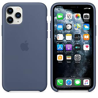 Original Packaging MWYR2ZM/A Apple Silicone Microfiber Cover Case for iPhone 11 Pro Max - Alaska Blue