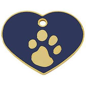 Imarc Large 4x3cm Heart Imprint (Dogs , Collars, Leads and Harnesses , Accessories)