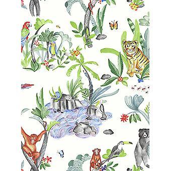 Víceúčelový arthouse-Tapeta džungle 696008