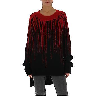 Ann Demeulemeester 19022628256099 Donne's Maglione di cotone nero/rosso