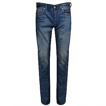 Replay Men's Grover Blue Denim Straight Leg Jeans