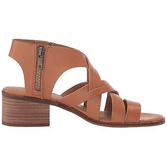 Gelukkige merk Womens Nayeli lederen open teen casual espadrille sandalen