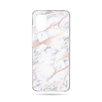 Hull Til Samsung Galaxy A71 Soft Pink Marble Effect