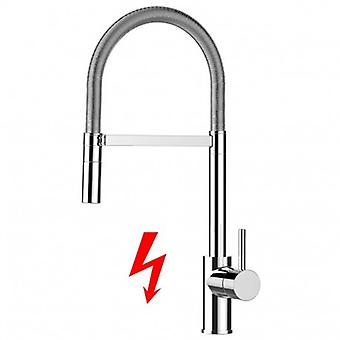 Niederdruck Kitchen Single-lever Sink Mixer With High Swivel Spout And 2 Jets Spray Shower - 231