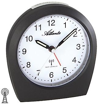 Atlanta 1824/4 alarm clock radio alarm clock radio anthracite light snooze quietly without ticking