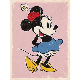 Minnie Mouse Placa de Lona Retrô 30 * 40cm