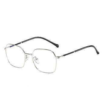Anti Blue Light Glasses, Round - Silver
