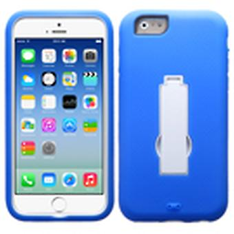 Asmyna Symbiosis Stand Protector Case for Apple iPhone 6/6S - White/Dark Blue
